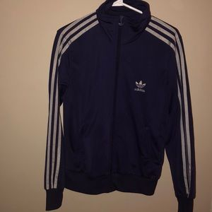 ADDIDAS purple zip up sweater